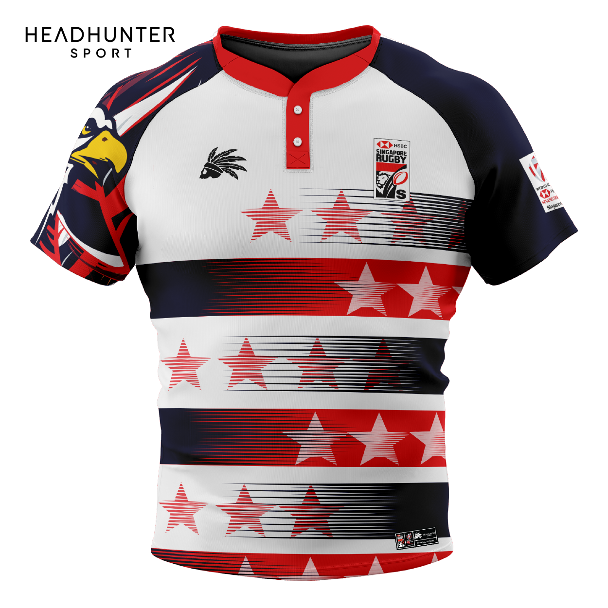 HSBC RUGBY 7S SERIES SINGAPORE 2019 MERCHANDISE USA JERSEY