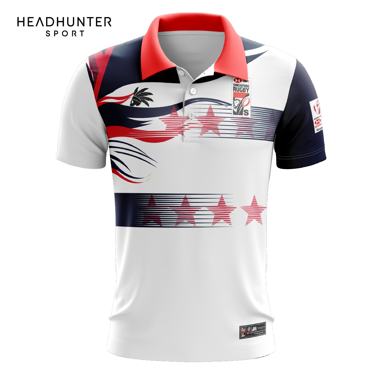 HSBC RUGBY 7S SERIES SINGAPORE 2019 MERCHANDISE USA POLO