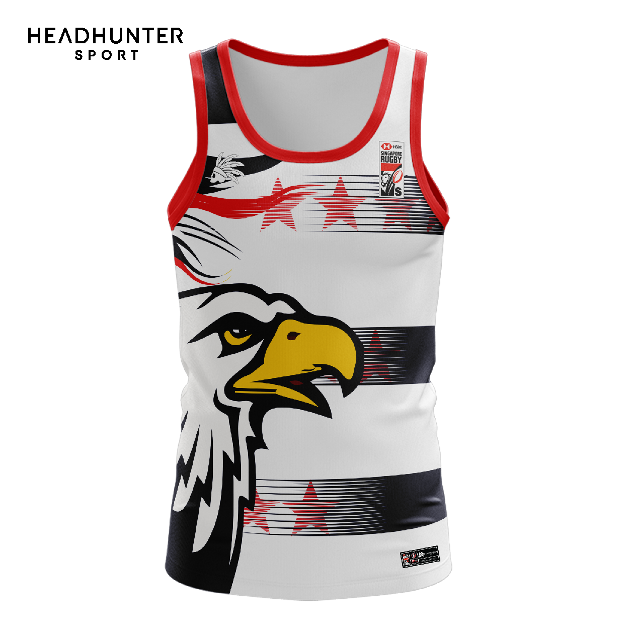 HSBC RUGBY 7S SERIES SINGAPORE 2019 MERCHANDISE USA SINGLET
