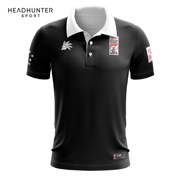 HSBC RUGBY 7S SERIES SINGAPORE 2019 MERCHANDISE CLASSIC POLO SHORT SLEEVES BLACK