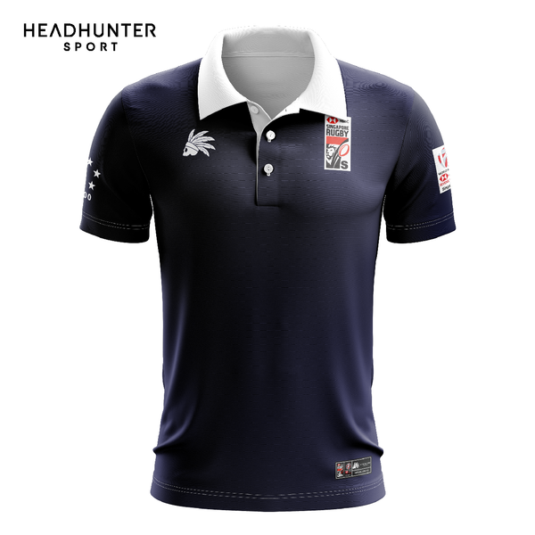 HSBC RUGBY 7S SERIES SINGAPORE 2019 MERCHANDISE CLASSIC POLO SHORT SLEEVES NAVY BLUE