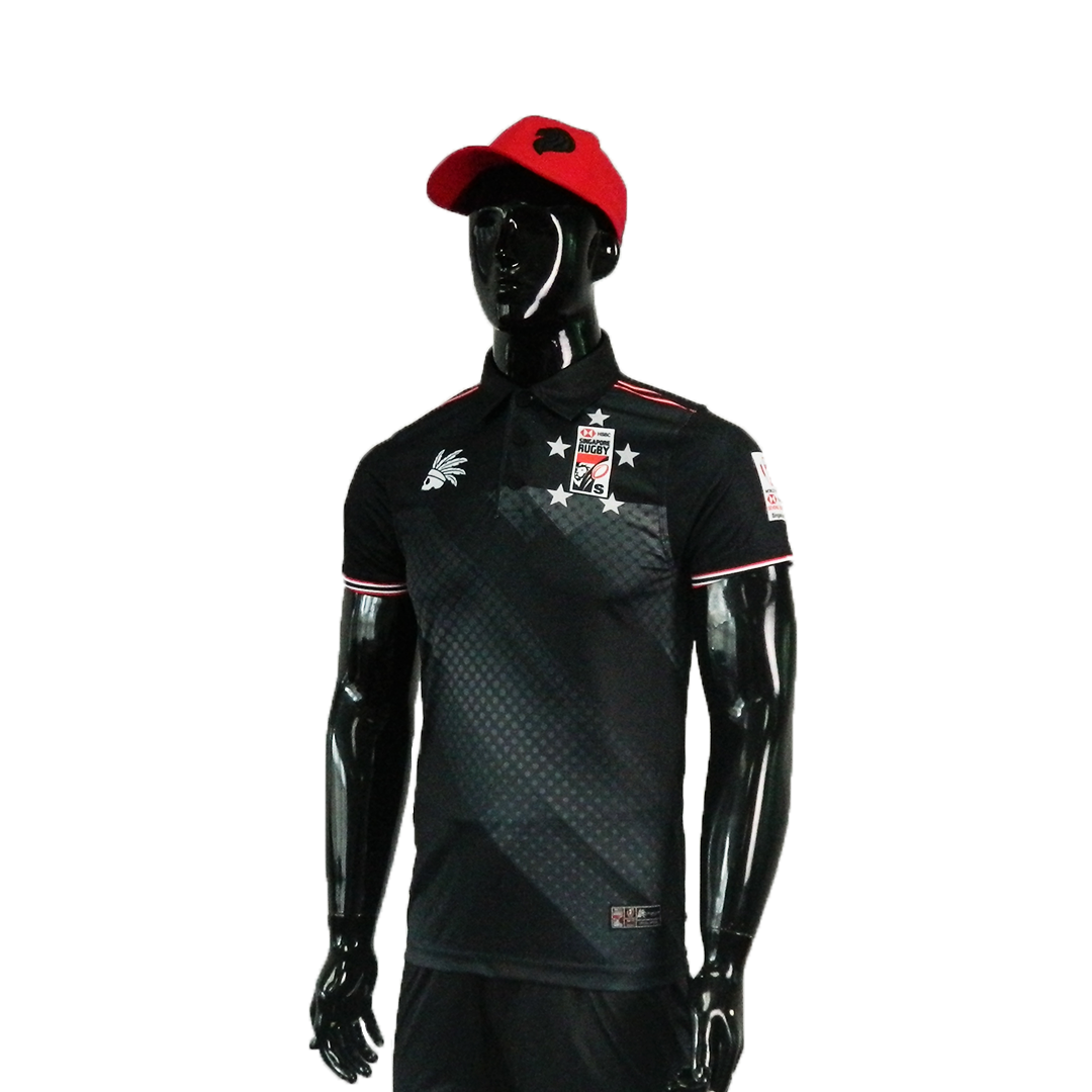 HSBC RUGBY 7S SERIES SINGAPORE 2019 MERCHANDISE SINGAPORE BLACK POLO