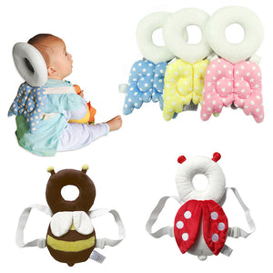 Cute Newborn Head & Back Protection Pillow  Wings Drop Resistance Pad Guardian Cushion.