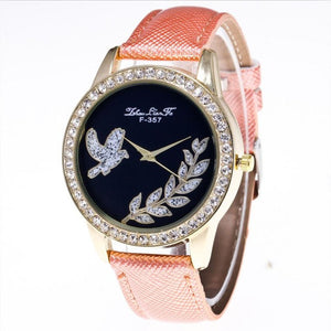 Candy Color  Leather Strap Wristwatch.