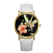 Flower Pattern Dress  Casual  Quartz-watch.