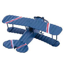 Vintage Metal  Model Aircraft Glider Biplane decoration.