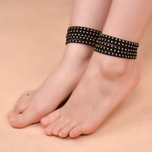 Fashion Retro Black Anklet Foot Ring Ornaments.