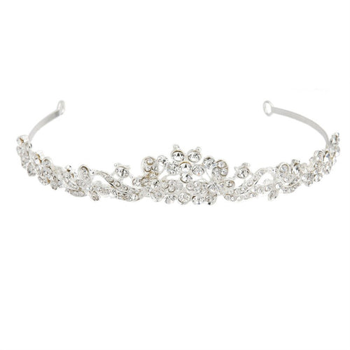 Elegant Wedding Prom Rhinestone Crystal Flower Headband.