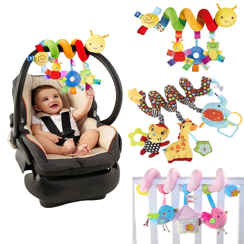 NUOLUX  Baby Crib  Hanging Rattles Spiral Stroller & Car Seat Toy with Ringing Bell.