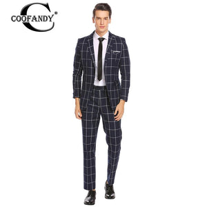COOFANDY Formal Suit Gentlemen Wear, Newest Male Clothes  Suit Single-breasted  Office Business Slim Fit.