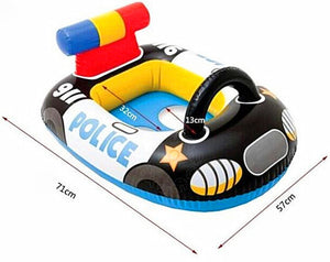 BOHS  Baby Swimming Pool Seat Ring Float  For 0-2 Years Rattle inside,Fire Rescue, Patrol Boat.