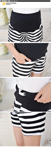 Maternity High Waist  Spring Summer Striped Shorts Trousers M/L/XL.