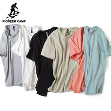Pioneer Camp Solid men t shirt casual  o-neck, Top quality bamboo cotton stretch Tshirt plus size.