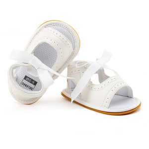 Summer Pure White Butter-fly  Lace-up Rubber sole.