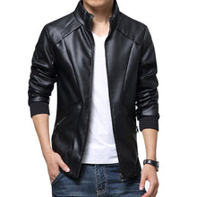 HEE GRAND  High Quality PU Leather Jacket Men Fashion Casual  Overcoats Zipper Clothing  M to 5XL.