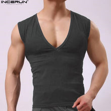 INCERUN  2018 Mens Clothing Bodybuilding Tank Top Fitness T shirt  Sleeveless Fitness Tank top Men Plus Size 3XL.