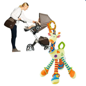 Hanging soft Toy, Grow Stretch, baby Giraffe  for  Car Seat.