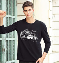 Pioneer Camp fashion  short sleeve casual male  t-shirt white grey white dark blue long sleeve in stock .