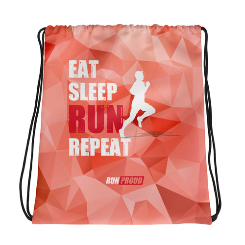 Eat Sleep Run - RunProud Drawstring Bag