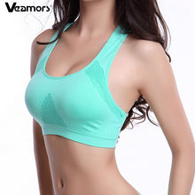 Veamors Absorb Sweat Seamless Sport Bra