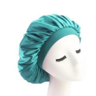Turquoise Wide Band Silky Bonnet - Taelor Boutique