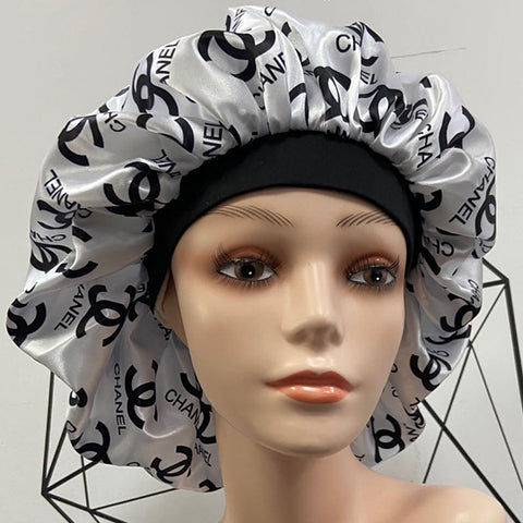 White CC XL Designer Bonnet
