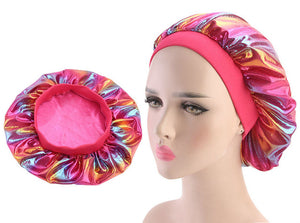 Multicolour #5 Shiny Silk Bonnet - Taelor Boutique