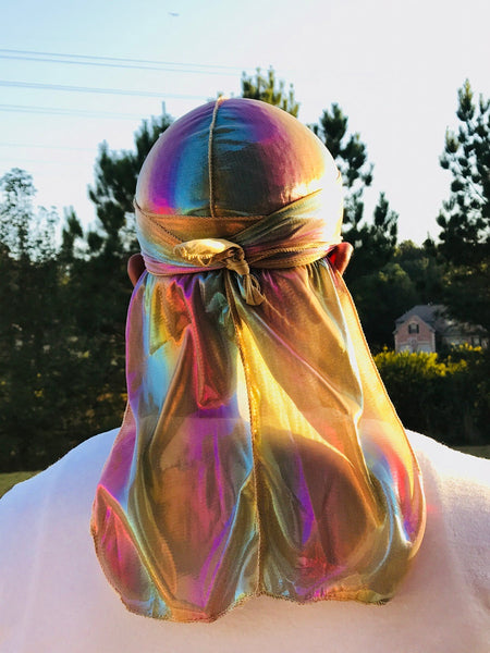 Multicolour #1 Shiny Durag & Extra Large Bonnet Set