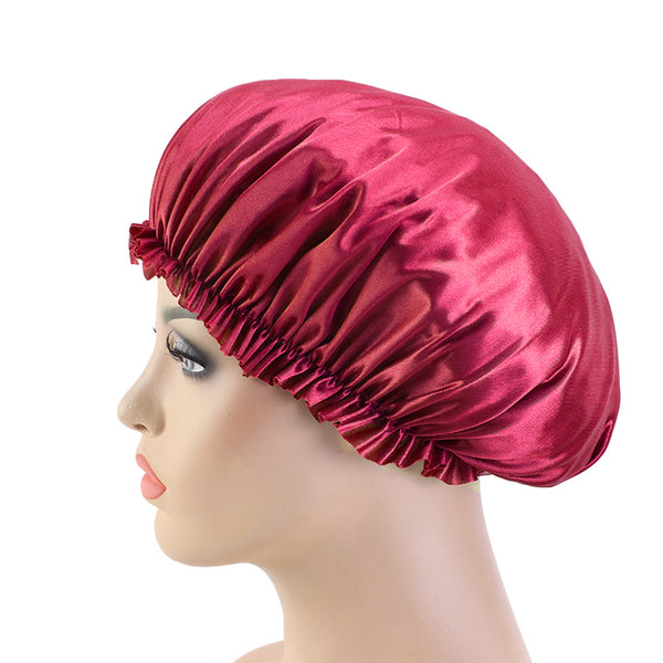Wine Red Silky Bonnet - Taelor Boutique