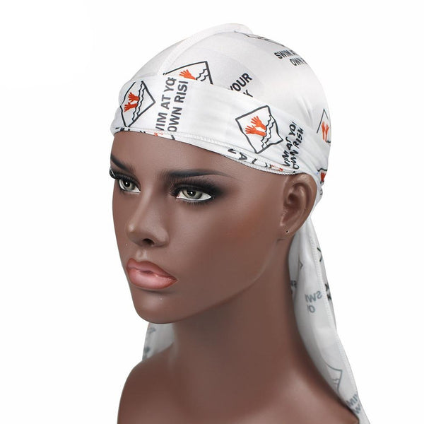 Swim At Your Own Risk #4 Silky Durag - Taelor Boutique