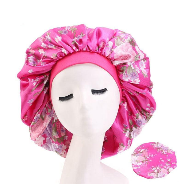 Extra Large Floral Silk Bonnet