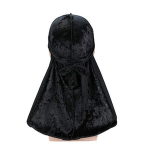 Black Luxury Velvet Durag - Taelor Boutique