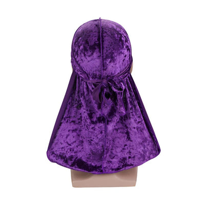 Purple Luxury Velvet Durag - Taelor Boutique