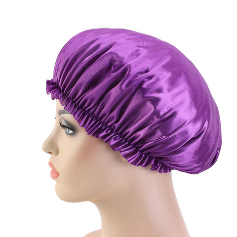 Purple Silky Bonnet - Taelor Boutique