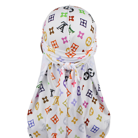 Colourful LV Designer Durag - Taelor Boutique