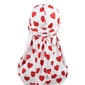 White CDG Designer Durag - Taelor Boutique