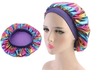 Multicolour #6 Shiny Silk Bonnet - Taelor Boutique