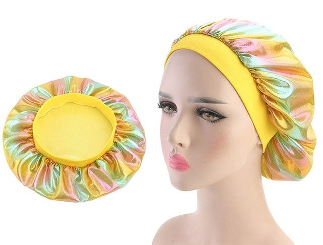 Multicolour #4 Shiny Silk Bonnet - Taelor Boutique