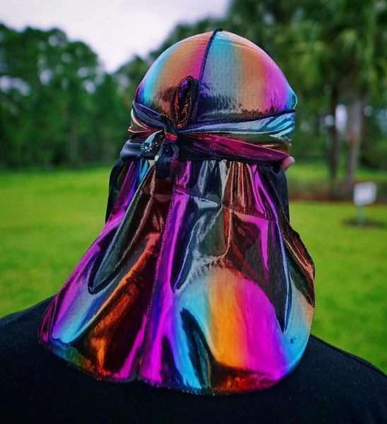 Multicolour #2 Shiny Durag & Extra Large Bonnet Set