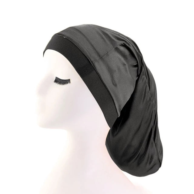 Black Silky Dreadlock Cap - Taelor Boutique