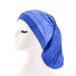 Blue Silky Dreadlock Cap - Taelor Boutique