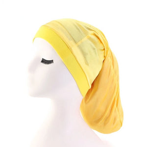 Yellow Silky Dreadlock Cap - Taelor Boutique