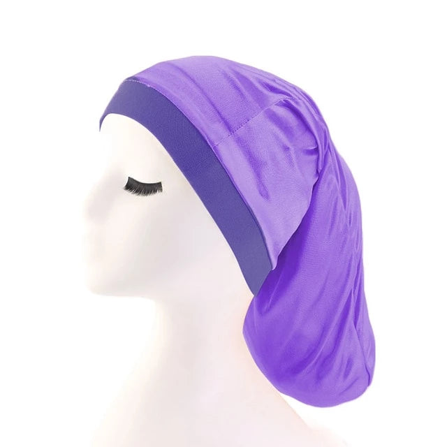 Purple Silky Dreadlock Cap - Taelor Boutique