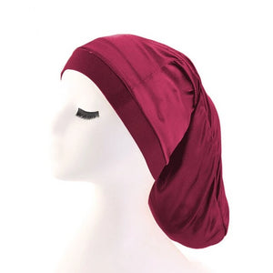 Burgundy Silky Dreadlock Cap - Taelor Boutique