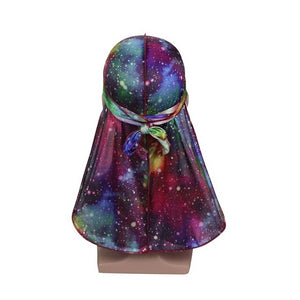 Galaxy Print #5 Silky Durag - Taelor Boutique