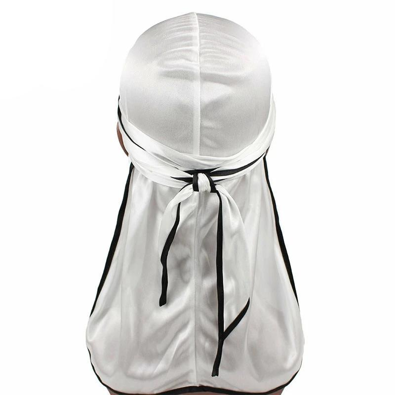 White Silk Durag w/ Black Lining - Taelor Boutique