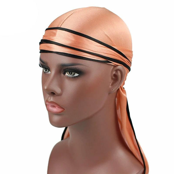 Champagne Silk Durag w/ Black Lining - Taelor Boutique