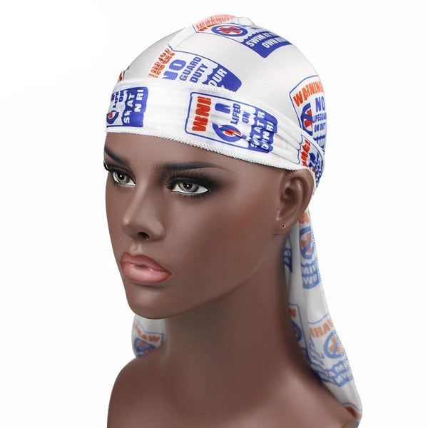Swim At Your Own Risk Silky Durag - Taelor Boutique