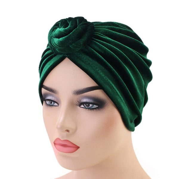 Green Velvet Durag & Turban Set - Taelor Boutique