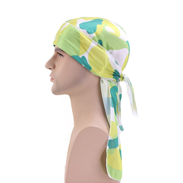 Silk Multi Pastel Camo Durag - Taelor Boutique